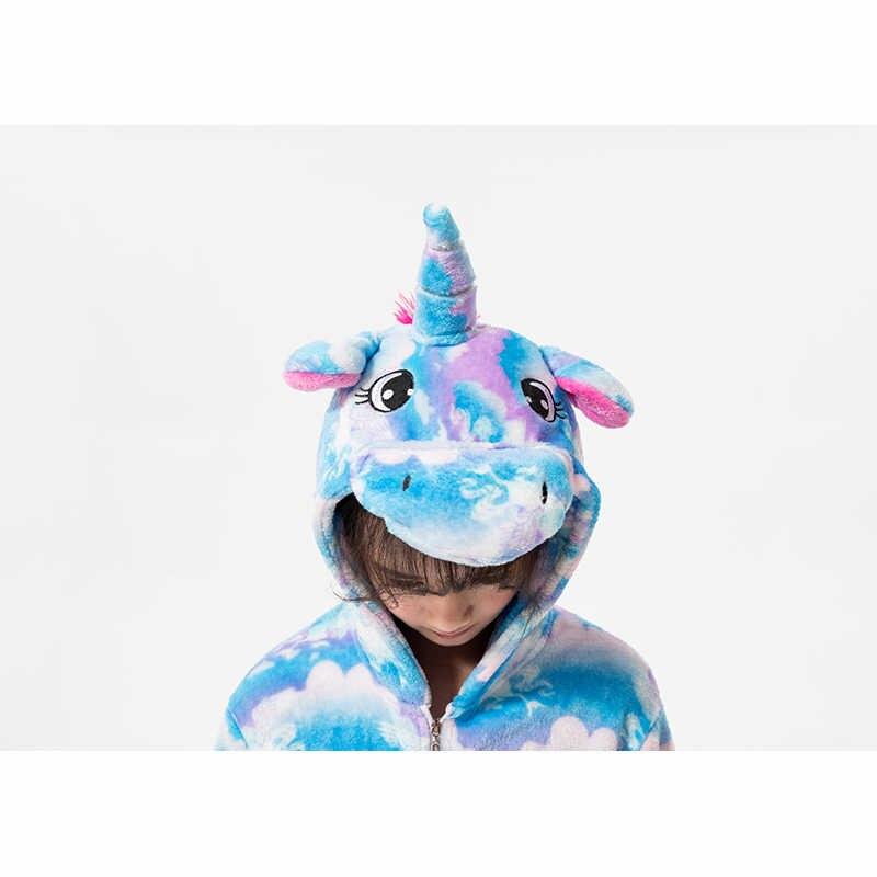 子供のパジャマ少年少女のためのユニコーンパジャマフランネル冬パジャマカーニバル pijamas 動物冬 onesies