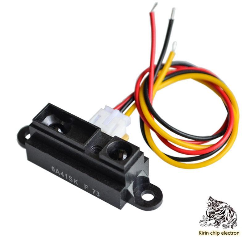 2PCS/LOT 2Y0A21 GP2Y0A21YK0F Infrared Ranging Sensor GP2D12 Distance Detection 10-80cm Strip Line