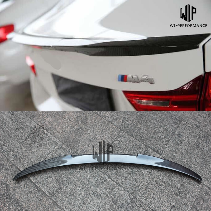 F82 M4 High Quality Carbon Fiber Rear Spoiler Trunk Lip Wing Car Styling For BMW F82 M4 Coupe 2 door Car Body Kit 2015 image