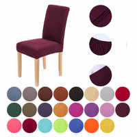 Modern Spandex Elastic Chair Cover for Dining Room Wedding Flowers Party for Decoration Furniture Folding Chair 23 Solid Colours