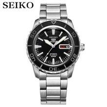 Seiko שעון גברים 5 אוטומטי שעון למעלה מותג יוקרה ספורט גברים שעון סט עמיד למים מכאני צבאי שעון relogio masculinoSNZ