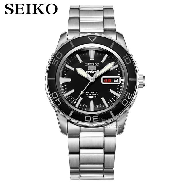 seiko watch men 5 automatic watch top brand luxury Sport men watch set waterproof mechanical military watch relogio masculinoSNZ