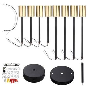 Image 5 - Smuxi 85 265 v E27 シャンデリアライトヴィンテージ工業エジソン 8 灯シャンデリア器具黒、白別売電球