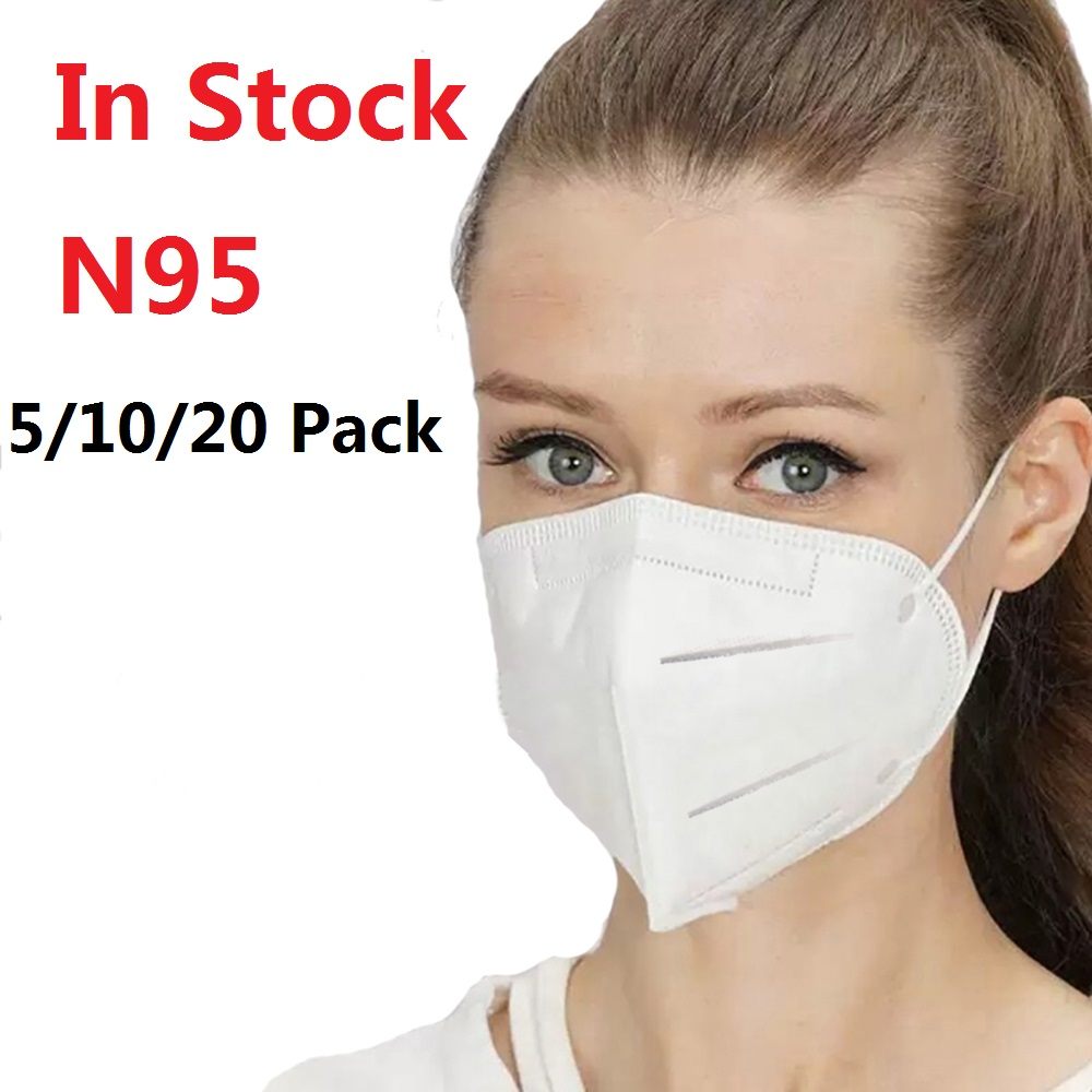 In Stock 10PCS N95 Mask Mouth Caps Anti Dust Prevention Smog Prevention Masks Masque Fast Drop Shipping