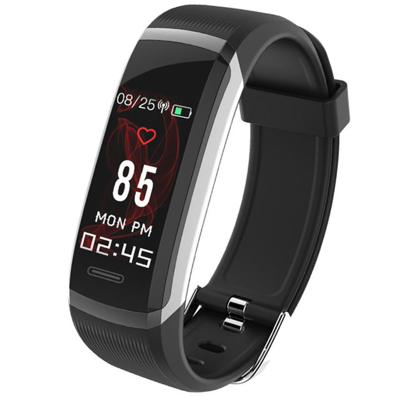 "HobbyLane GT101 Smart Wristband 0.96"" TFT Color Screen Heart Rate Monitor Fitness Tracker d35"