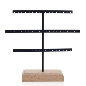 Fashion 52 Hook Earring Jewelry Organizer Earring Organizer Hanging Holder Necklace Display Stand Box Holder Rack Jewelry Hanger