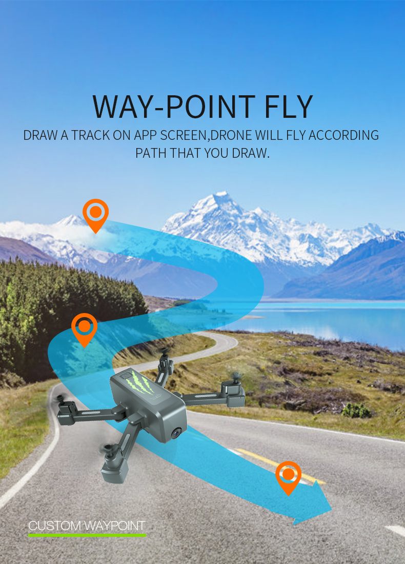 SHAREFUNBAY drone GPS 4K HD 5G WIFI FPV drone ESC camera height keep flight for 20 minutes distance control 20