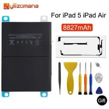Yilizomana Originele Tablet Batterij Voor Ipad 5 Ipad Air 8827 Mah Originele Vervangende Batterij Voor IPad5 A1484 A1474 A1475 + gereedschap