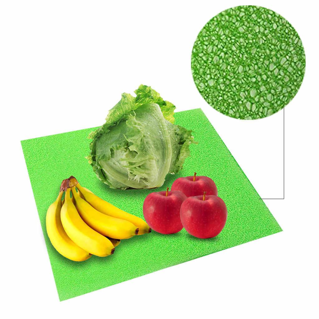 4 pçs geladeira esteiras corte geladeira anti-bacteriano impermeável geladeira frutas legumes vida extensor forro esteira gaveta
