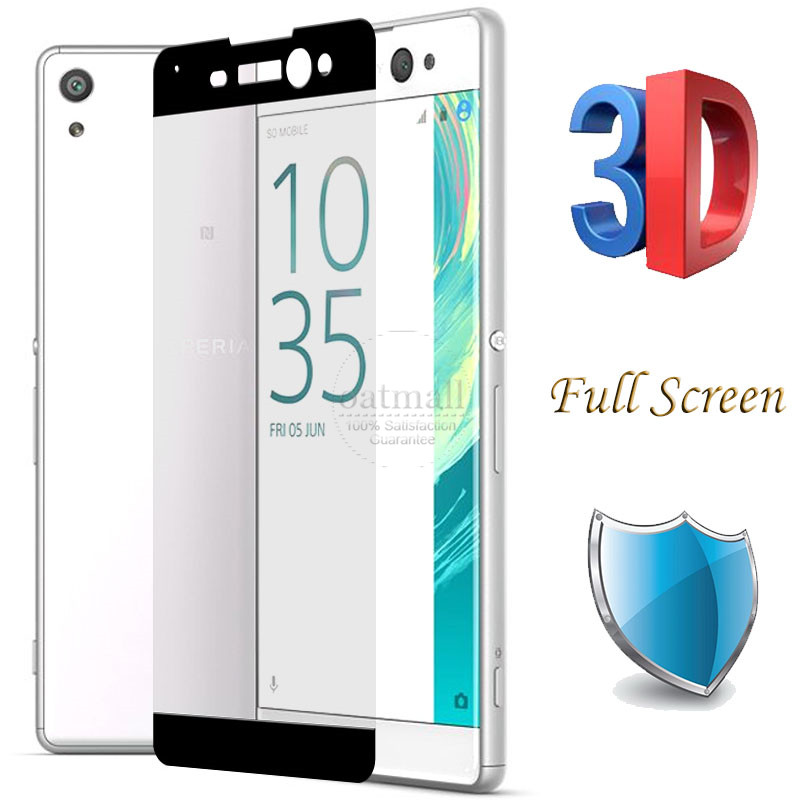 0.26mm Full Screen 3D Curved Tempered Glass Film For Sony Xperia XA XA2 Ultra Screen Protector Protective Glass For Sony XA1 9H