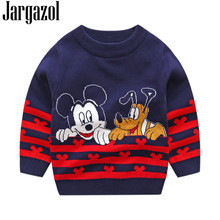 2019 Girls Sweater Autumn Winter Boys Sweaters Kids Clothes Mickey Cartoon Embroidery Christmas Children Minnie Knit Tops