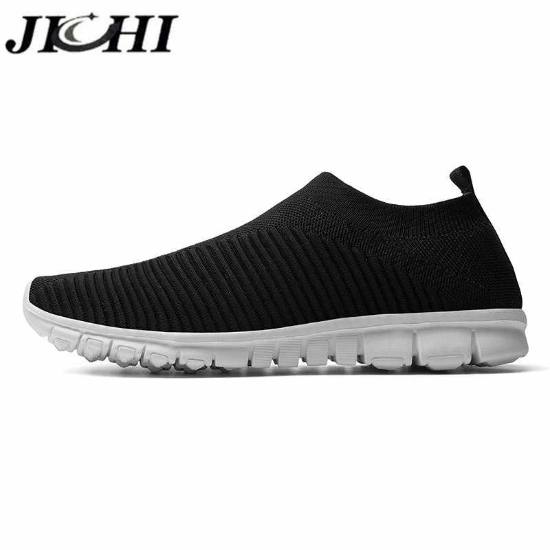 JICHI 2020 Sommer männer Turnschuhe Atmungsaktive Slip-on Männer Casual Sneaker Komfortable Komfort Leichte Größe 47 Zapatillas Hombre