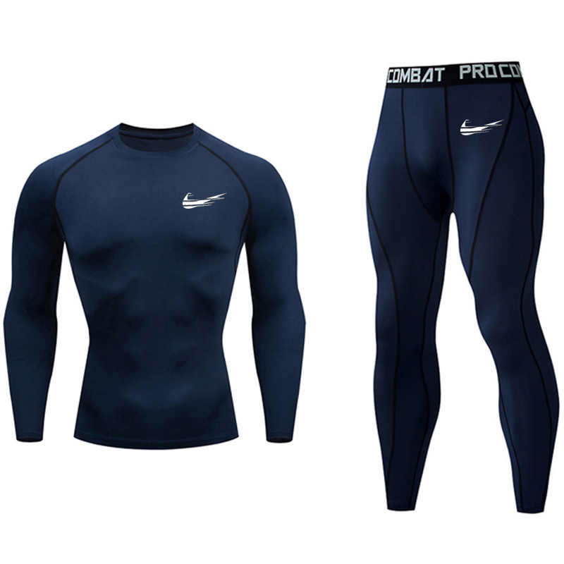 winter Thermal Underwear Men's  Compression Clothing Fitness Training kit Long johns winter male Quick drying shirt Sports Suit