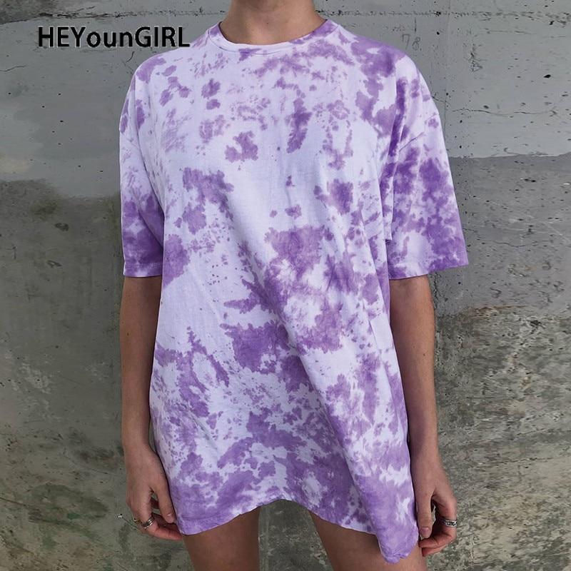 Camiseta larga HEYounGIRL con estampado de Tie Dye, camiseta de gran tamaño Harajuku de manga corta para mujer, ropa de calle de verano a la moda para mujer Zapatos blancos planos para mujer, zapatillas blancas ligeras, zapatillas informales de verano y otoño para mujer
