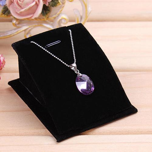 Soft Velvet Jewelry Necklace Pendant Drop Chain Display Holder Standing Stand Choker Earrings Elegant Organizer Show Bijoux NEW