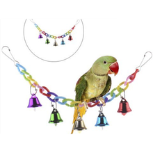Parrot Toy Bell-Toys Supplies Bird-Accessories Birds Standing-Chewing-Rack Wood Bead-Ball-Heart