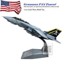 лучшая цена AMER 1/100 Military Model Toys F14 Tomcat F-14A/B AJ200 VF-84 Fighter Diecast Metal Plane Model Toy For Collection/Gift