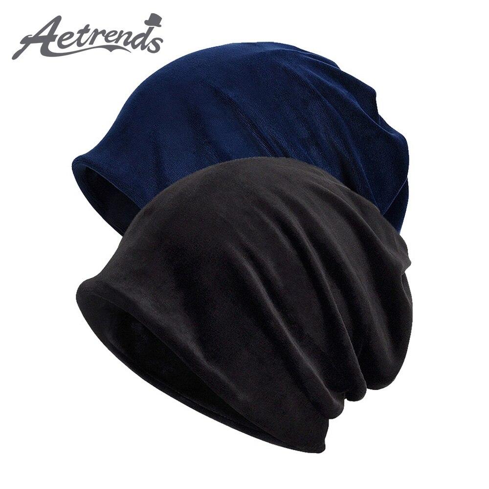 [AETRENDS] Winter Beanies Collar Scarf Women or Men's Outside Ski Skullies Beanie Hats (1 item for 3 functions) Z-6123