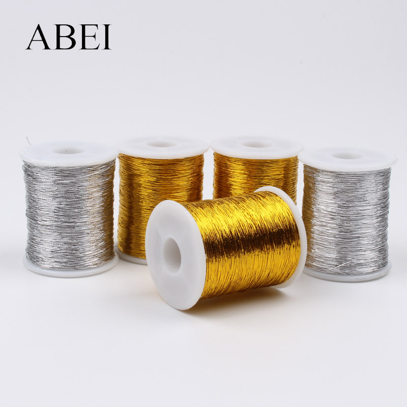 0.5mm 30Yards/roll Cross Stitch Thread Sewing Tools DIY Gold Silver Line String Bobbin Handmade Crafts Accessories(China)