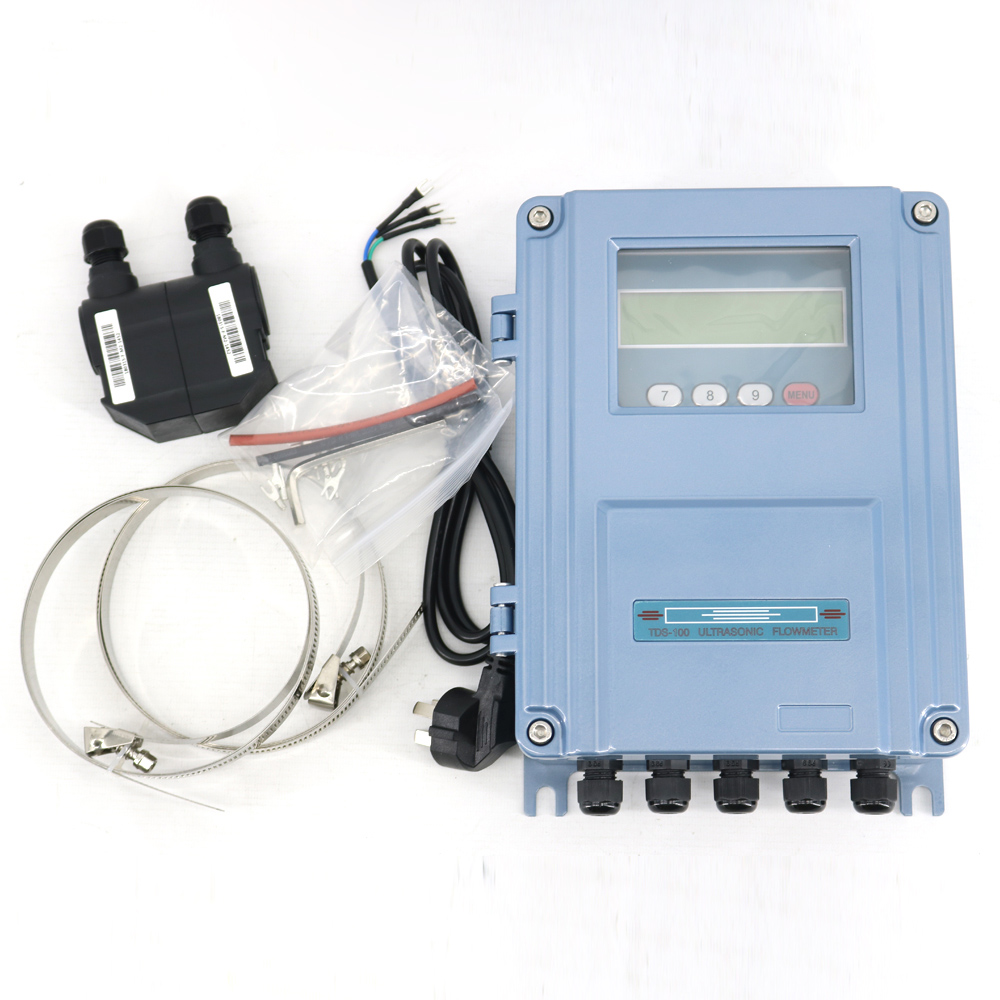 Fixed Ultrasonic Flow Meter TDS-100F With M2 Transducer DN50-700mm Or S1 Sendor DN15-100mm Wall-Mount The Clip-on Flowmeter