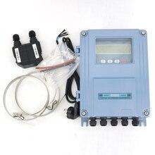 Medidor de fluxo ultrassônico fixo TDS 100F1 com transdutor m2 DN50 700mm ou F S2 sendor DN15 100mm parede monte o medidor de fluxo clip on