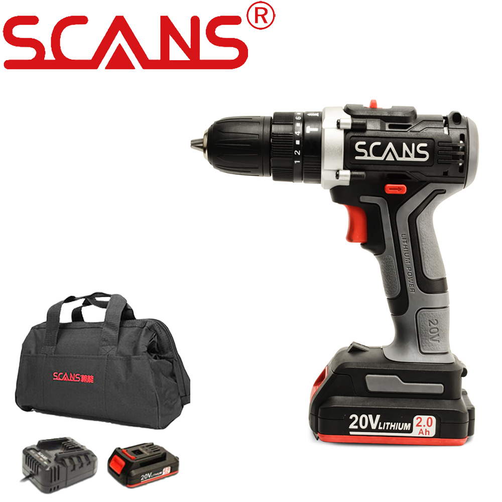 Electric Impact Screwdriver Cordless Hammers Drill SC3180 20V Lithium Battery Universal series with Toolbag by Scans Free Return