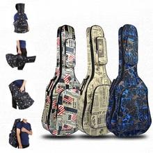 Funda de guitarra de 40/41 pulgadas, funda suave de esponja de 5 MM de grosor, bolsa Gig, mochila 600D Oxford, funda para guitarra impermeable con correas de hombro