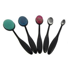 5 шт., мягкая силиконовая Косметическая кисть со спонжем для макияжа, набор для ухода за кожей лица, инструмент для женщин, девушек, макияж