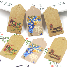 Labels Paper-Tags Wrapping-Supplies Kraft-Birthday-Tags Handmade Crafts DIY 50PCS Multi-Style