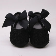 Bowknot Toddler Shoes Newborn Baby Girls Soft Shoes Soft Soled Non-slip Footwear Crib Shoes Baby Schoenen First Walkers(China)