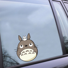 Creative Car Styling Stickers Cartoon Funny My Neighbor Totoro Car Decorative Decals Car Body Windshield Stickers