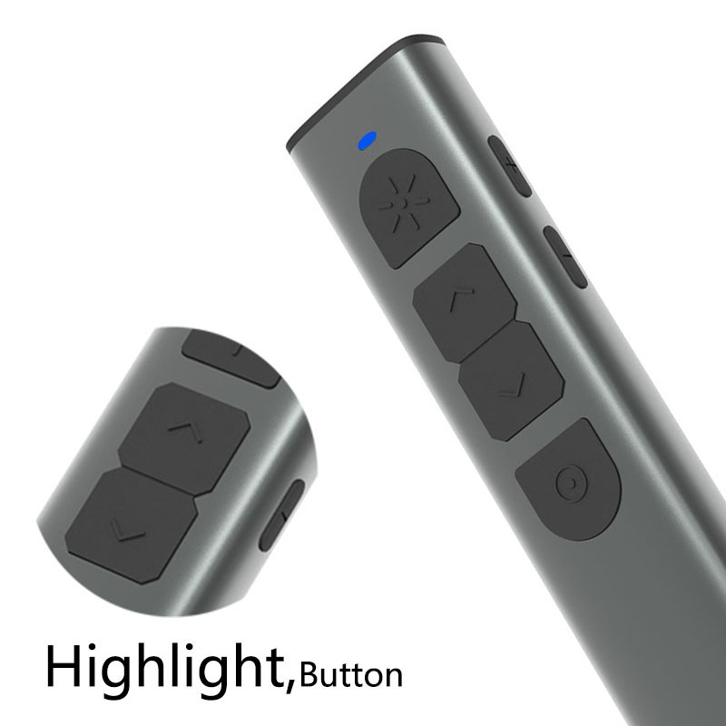 Noomya G20 Wireless Presenter Highlight green Light laser  2.4GHz ppt Laser Pointer Presentation remote (300mAH rechargeable?