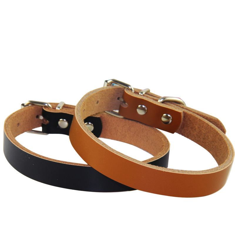 Pure Leather Pet Collar Pet Traction Series New Products Bite-proof Protector Dog Neck Ring Small And Medium-sized Dogs Large Do