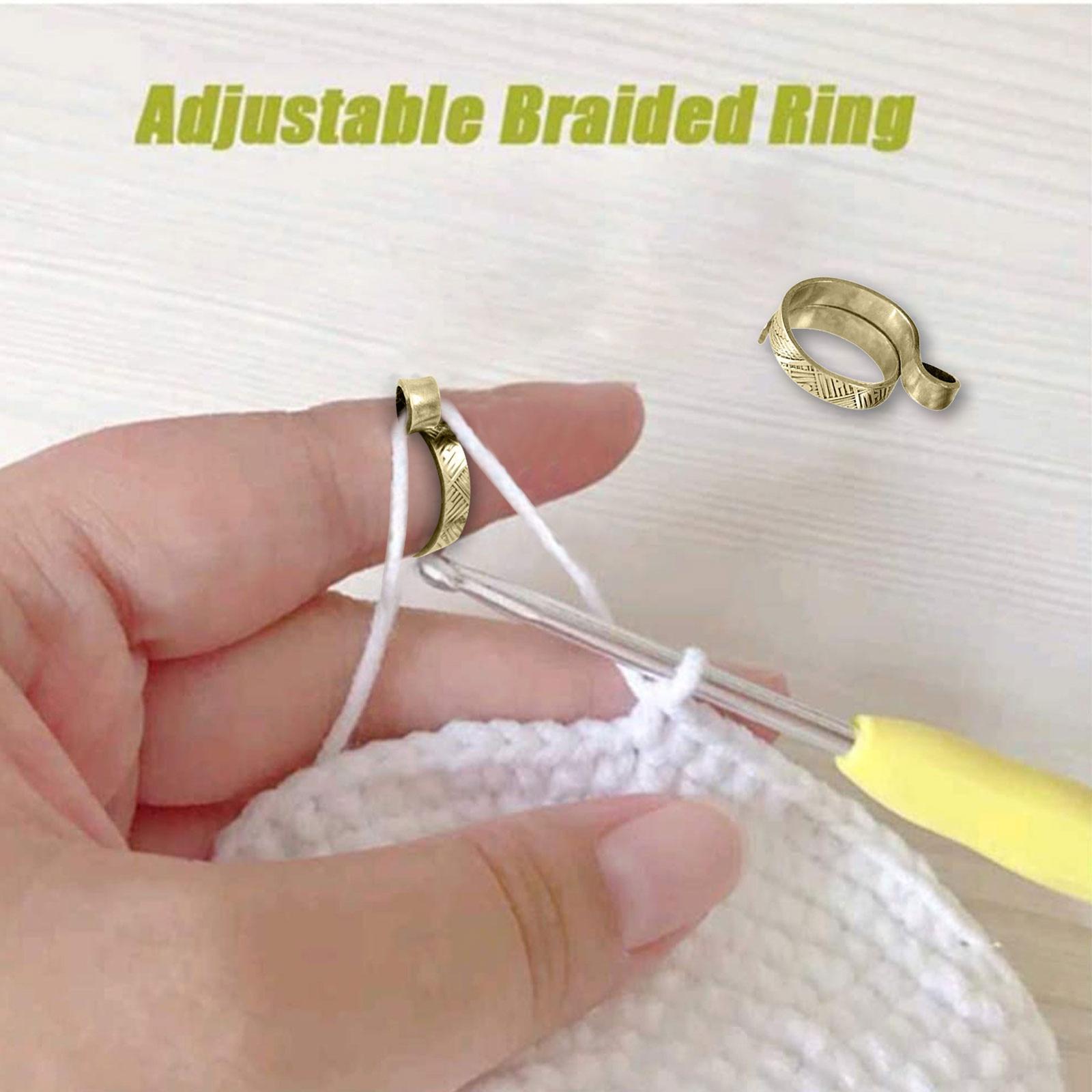 Boucle de tricot réglable, Crochet, accessoires de tricot, anneau de tricot réglable, Design créatif, livraison rapide