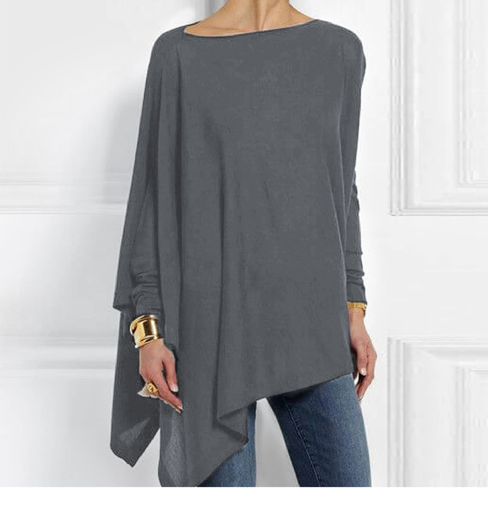 Cotton Irregular Womens Tops And Blouses Casual O Neck Long Sleeve Top Female Tunic 2019 Autumn Spring Plus Size Women's Blouse Hb95af50ae272446f9d13c832b9721141N