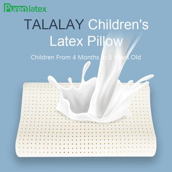 PurenLatex 50 #215 30 TALALAY Process Kid poduszka z naturalnego lateksu dziecko ortopedyczna poduszka konturowa poduszka pod kark szyjny dla dzieci tanie i dobre opinie Pościel 400tc Zwierząt Cartoon Stałe 100 bawełna THERAPY NECK Klasa a TALALAY Children Latex Pillow Fala 1-1 5 kg Talalay Children s Latex Pillow