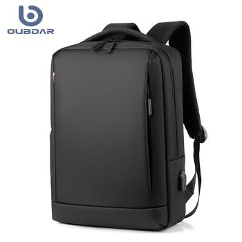 OUBDAR 2020 New Men Laptop Backpack Business Notebook Mochila Unisex Waterproof Back Pack USB Charging Bags Male Travel Bagpack