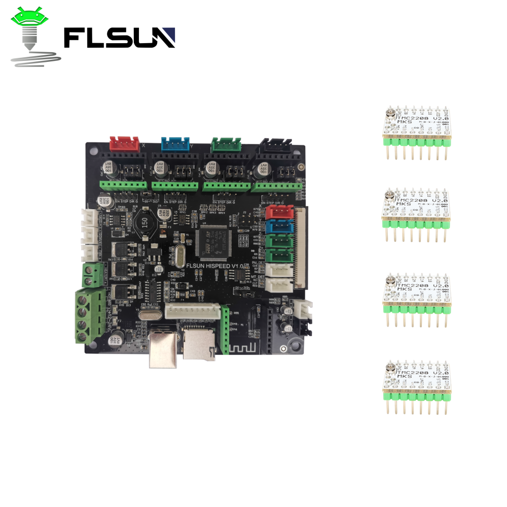 FLSUN 3D printer for QQ-S-PRO high-speed mini Robin board with 4 Removable TMC 2208 drivers