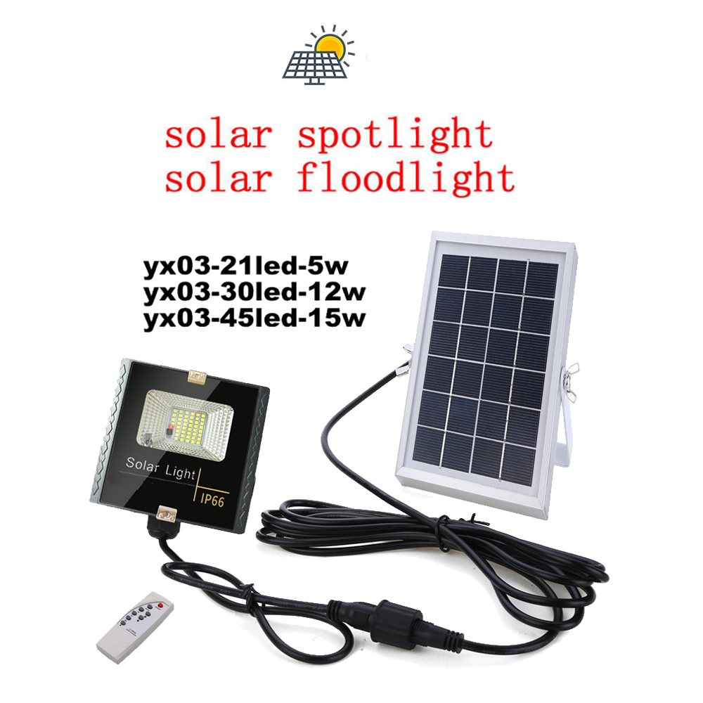LED Solar Power Garden light Path light waterproof Night Wall lamp Outdoor Patio Street Security light remote timer split mount