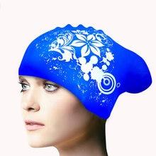 Novo silicone natação boné de cabelo longo das mulheres à prova dwaterproof água natação bonés senhoras mergulho capuz chapéu crianças garras natacion casquette