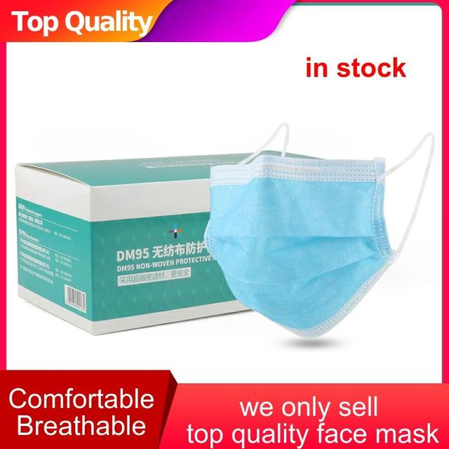 Anti-Pollution 3 Layers Mask dust protection Face Masks Disposable Dust Filter Safety Mouth Mask Proof Flu Earloop Face Masks