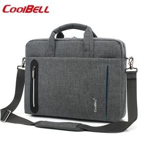Image 1 - 15 inch laptop bag 15.6  Waterproof Nylon 15.4  laptop shoulder bag man business bag Messenger bag for macbook PRO