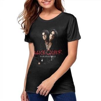 Mjcoulombe-id-Camiseta Vintage Paranormal de Alice Cooper para mujer, camisetas para niña, negro