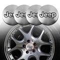 4 шт. 56,5 мм металлический Центральная втулка колеса автомобиля Кепки эмблемы наклейки для Jeep Cherokee компасы Rubicon Wrangler