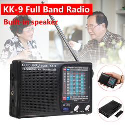 Wireless Speakers Portable AM/FM Mini 9 Bands Radio Telescopic Antenna Handsfree P ocket Mono Receiver Speaker Outdoor