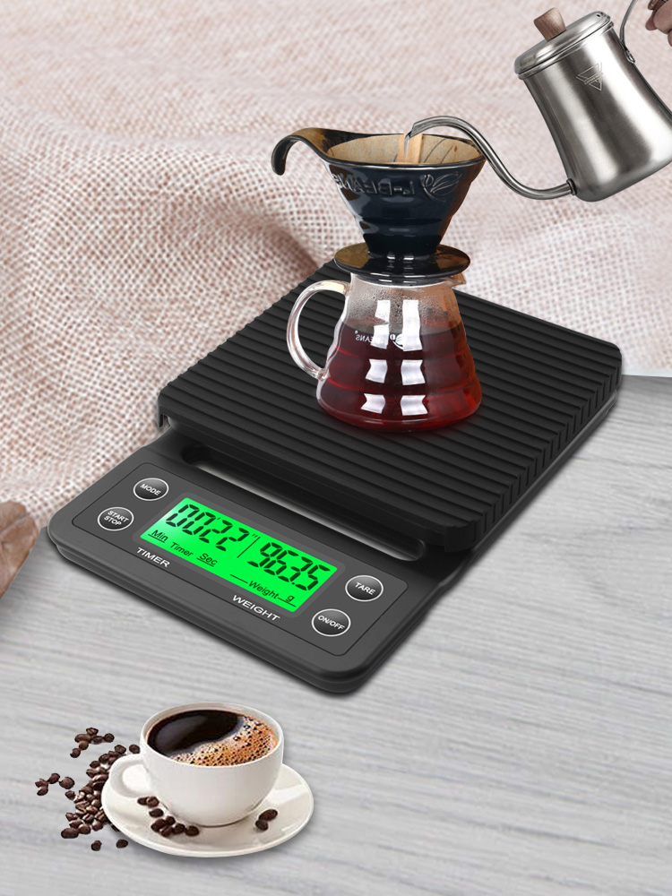 Timer Drip-Coffee-Scale Electronic-Scales Portable High-Precision 3kg/0.1g 5kg with Digital