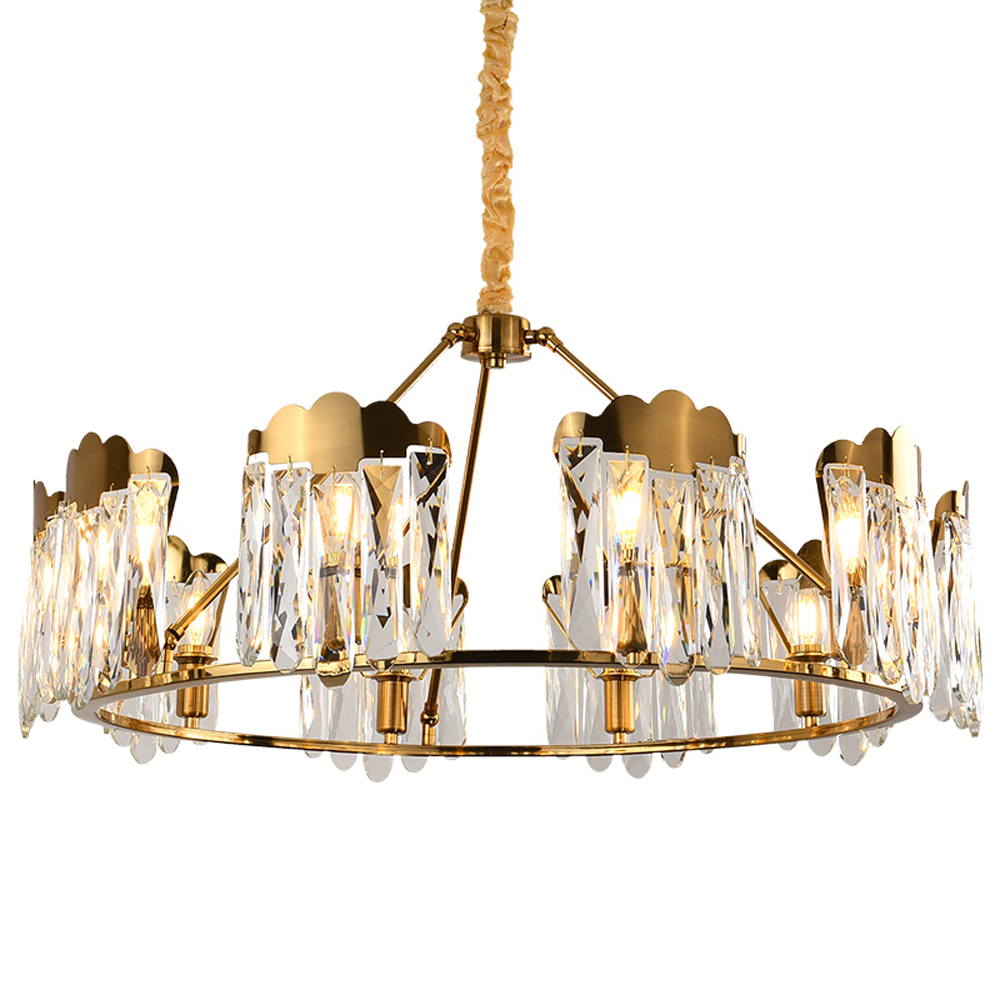 luxury living room crystal chandelier modern gold lamp lustre LED restaurant  lighting|Chandeliers|   - title=
