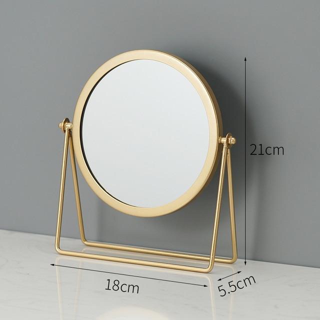 Metal Decorative Mirror Lady Desktop Makeup Mirror Crafts Dimensional Home Decor Accessories    WJ021710 4