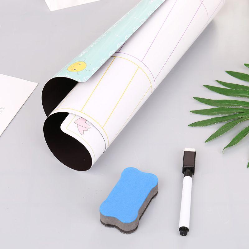Daily Planner Magnetic Whiteboard Fridge Magnets Marker Eraser Record Message M0XB