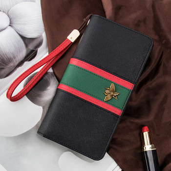 Women Long Wallet Tassel Small Bee Korean Fashion Version Hand Strap Trendy Personality Zipper Money card Mobile Phone Bag 731